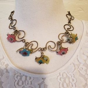 Jewelry - Vintage Scrolling Flower Bead Necklace